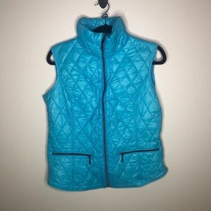 Michael Kors Blue Down Packable Puffer Vest